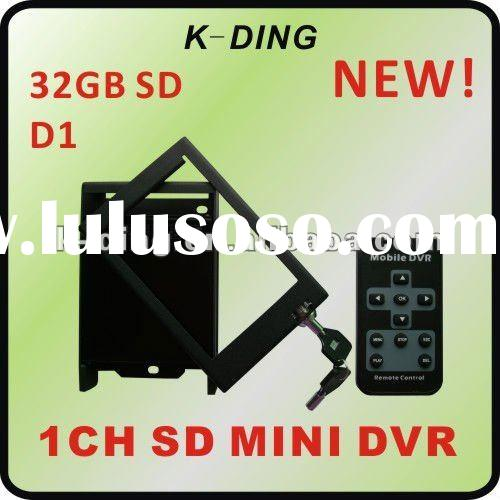 1 ch Car DVR, Mobile Video Recorder, Taxi DVR, D1 Resolution, lockable, 32GB SD Card, IR remote, GPS
