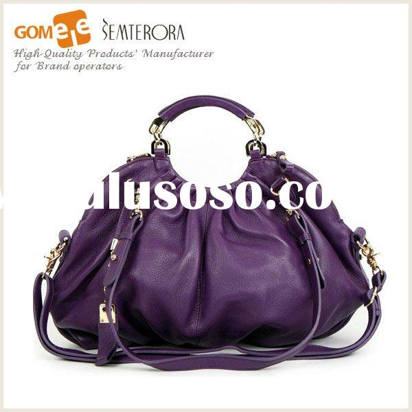 2012 Spring Fashion & Leisure Ladies Leather Handbag,Western Desigener Bag