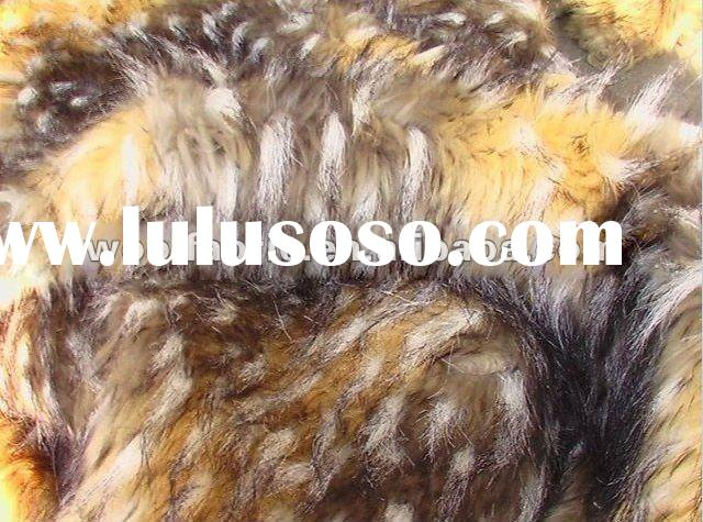 Animal Faux Feather Fur Wool Fabric/Plush Woolen Knitted Fabrics