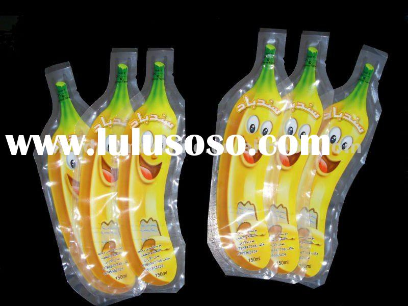 Fruit shape plastic beverage bag filling packing machine