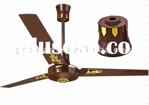 metal blade ceiling fan with golden parts