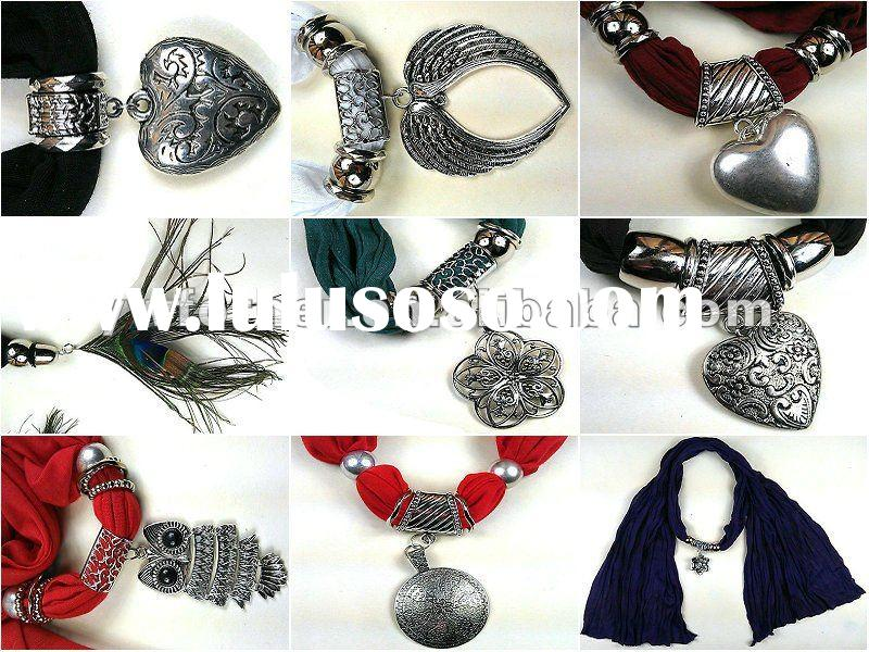 Fashion jewelery scarf accessories for woman