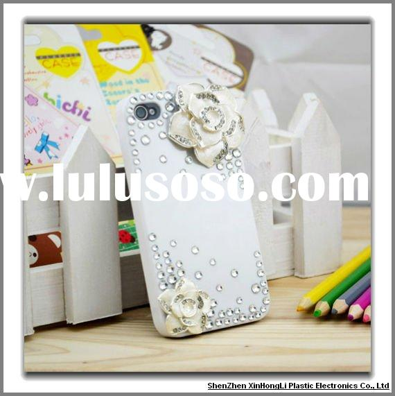 Fashionable luxury bling cell phone cases for iphone 4g/4gs with factory price