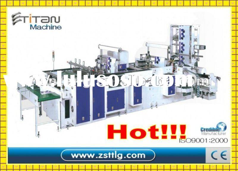 TT-800 Fulll Automatic Plastic Handle Bag Making Machine(four functions)