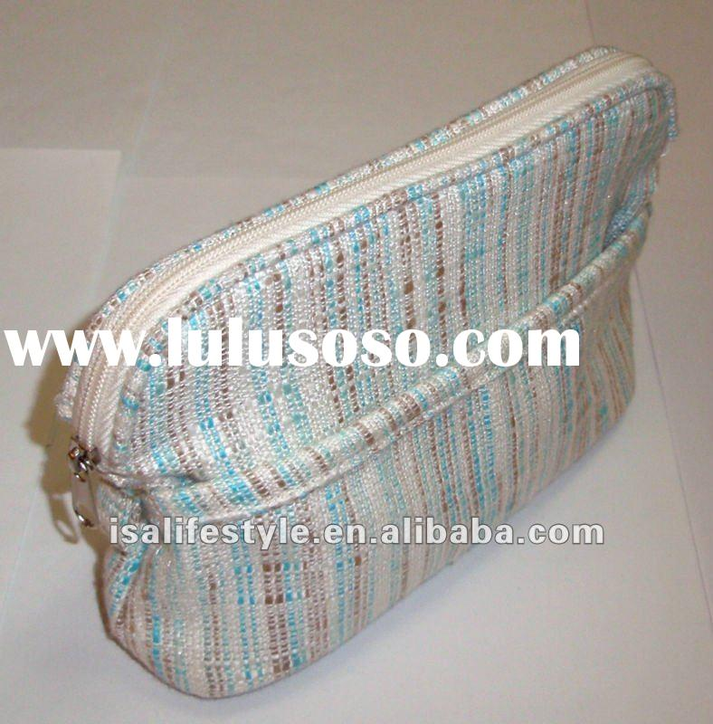 Lohas linen fashion cosmetic bag with compartment No. LMB023