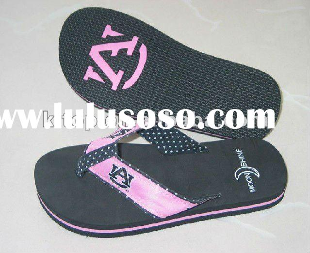 promotional embossed logo flip flops sandals