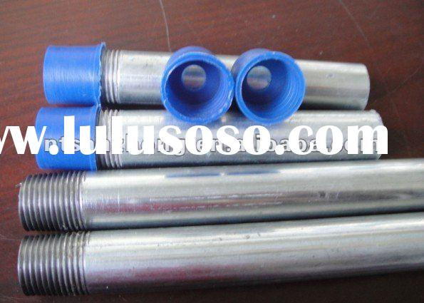 Galvanized steel pipe for screwed pipe