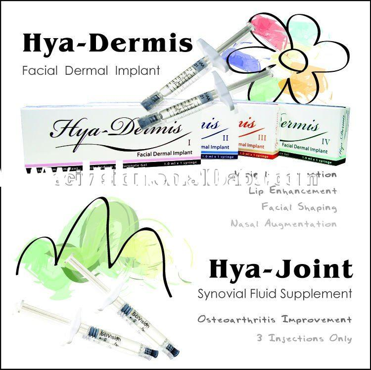 Hyaluronic acid hya dermis ii facial dermal implant inject face