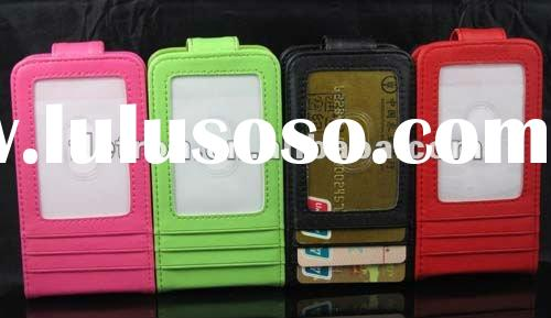 New Wallet Leather Case with Card Holder For iPhone 4 4G 4S