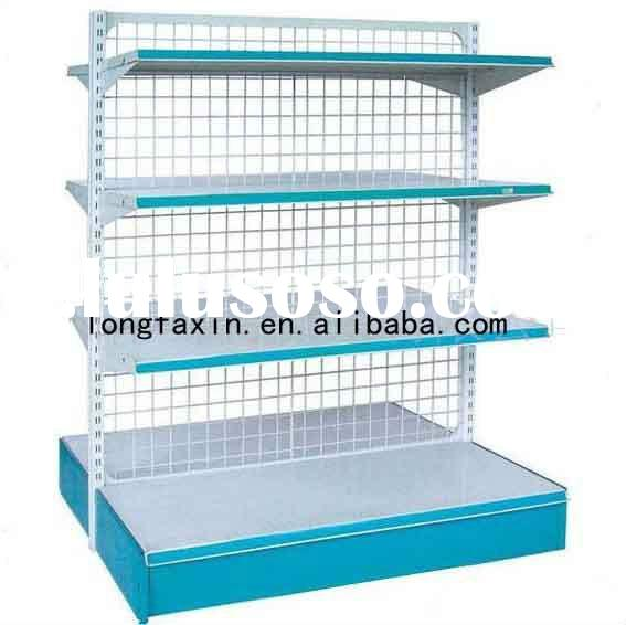 4 tiers double side wire mesh back panel shelf
