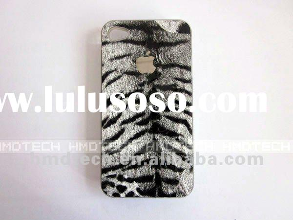 Electronic Flash Light Zebra Stripe Phone Case for iPhone 4 4S with Calling Signal Cell phone case
