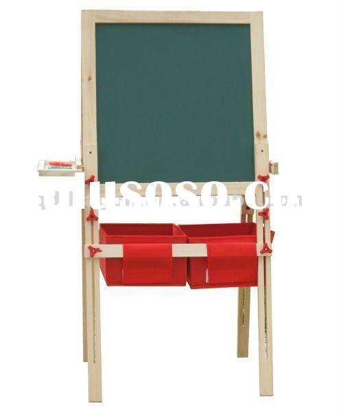 Environmental solid wood easel stand for kids