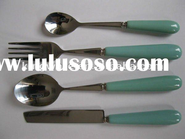ceramic handle for 18/0 or 18/8 stainless steel 16&24pcs cutlery sets