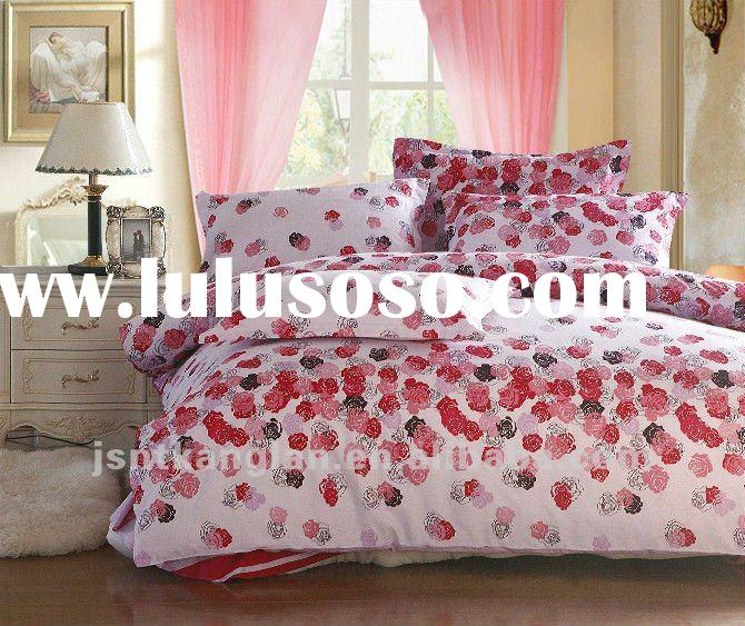 100% Cotton Pigment Printed Bed sheet set