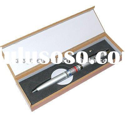 3 in 1 laser pen with ballpoint pen (red laser+Ballpoint Pen+LED Light) with WOOD box NG020