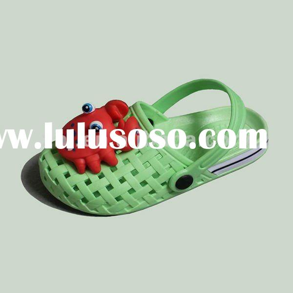 PVC air blowing children slippers