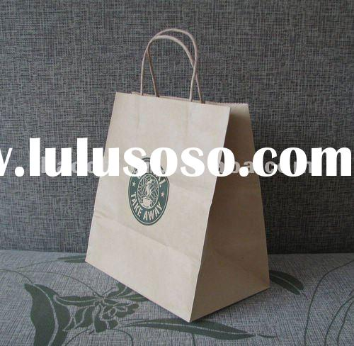 Promotional Customized Kraft Paper Bag with twisted handle