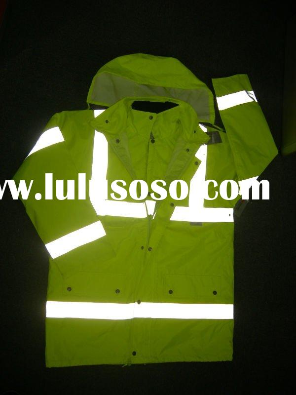 hi-visibility 4 in 1 waterproof jacket with 3M tape