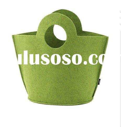 new style green bamboo fiber non woven tote bag