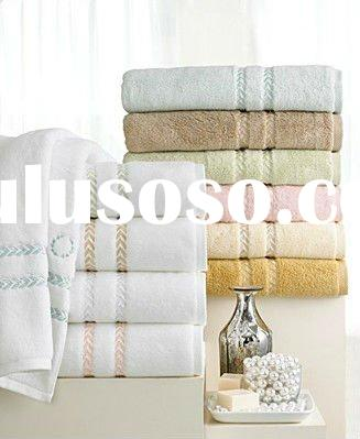 100%cotton yarn-dyed satin bath towel