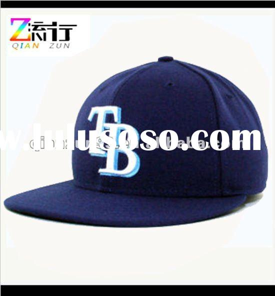 2012 3D embroidery navy blue baseball cap