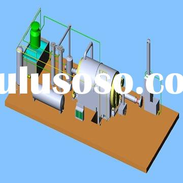 Advanced waste plastic pyrolysising machine for 8--10 MT/D