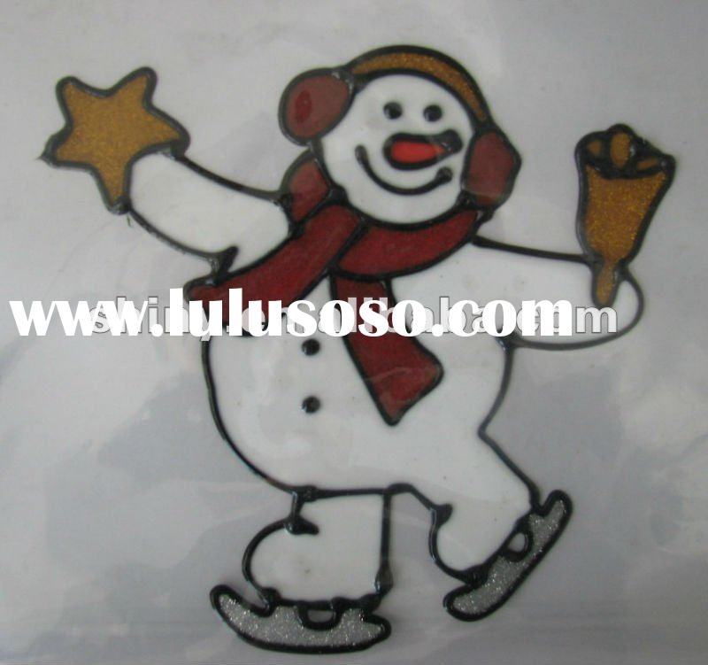 Santa Claus Christmas PVC Sticker home decoration and promotional gift