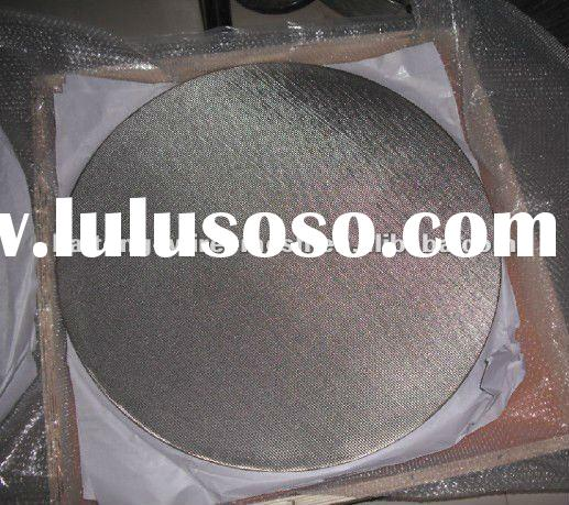 1-7 layer 2-30 micron stainless steel sintered filter disc