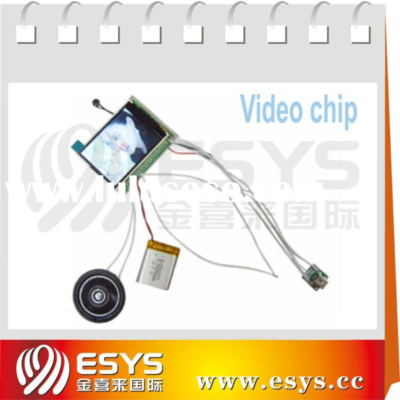 "2.4"" Video card with custom message,128MB memory space can dowmload video by user"