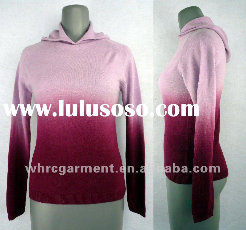 (S/#:LS-108)woman's garment dyeing cashmere-like acrylic pullover sweater for 2012 spring an