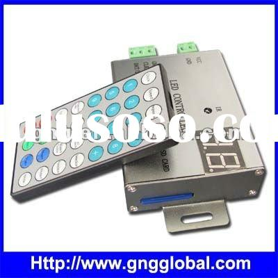 load capacity 4096pixels led controlller with IR remote control panel