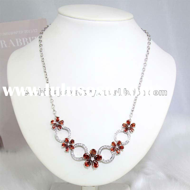 silver jewelry with cubic zirconia
