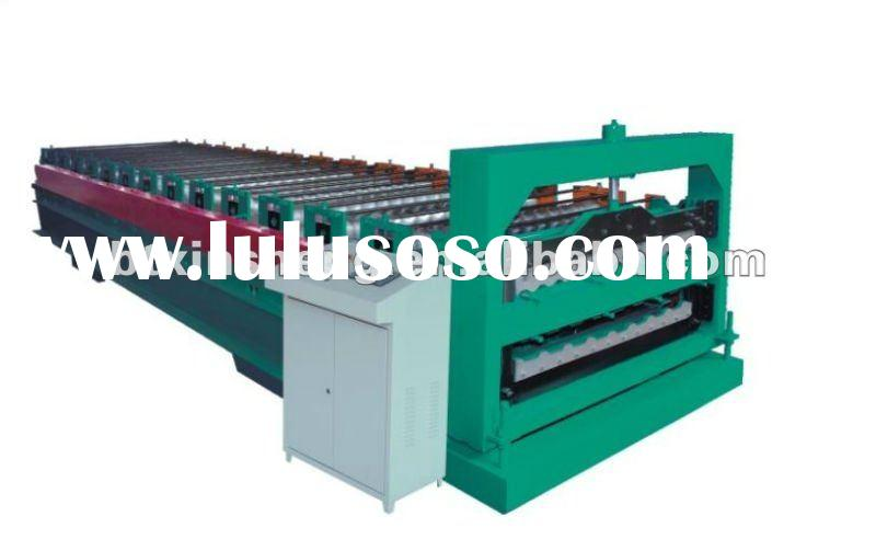 840-900 double layer cold bending color steel roof tile making machine