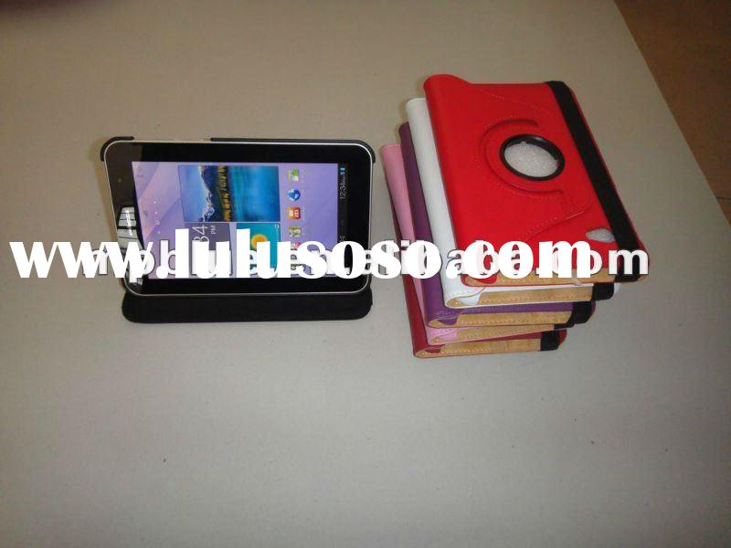 New 360 degree PU case for Samsung Galaxy Tab 7.0 plus 6200 tablet pc accept paypal
