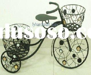 Wrought Iron Bicycle Shap Flower Pot.