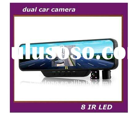dual camera with infraed light 120 degree night vision car black box/car camera recorder/car dvr