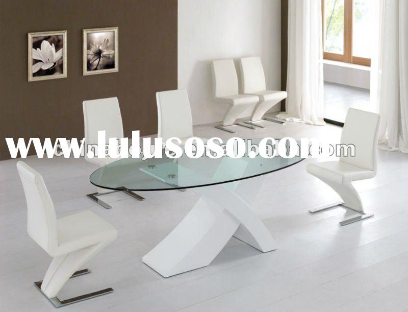 glass dining table , wooden dining table