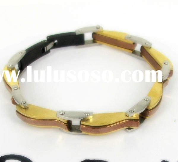 Classy Stainless Steel and Gold Mens fashion chain Bracelet