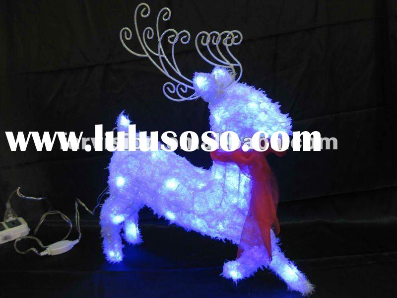 2012 Outdoor Christmas decoration reindeer with light or led