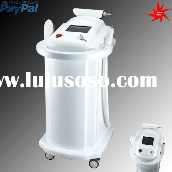 2012 IPL&RF&yag laser 3 in 1 machine,hair removal,skin rejuvenation,tattoo removal,freckle r