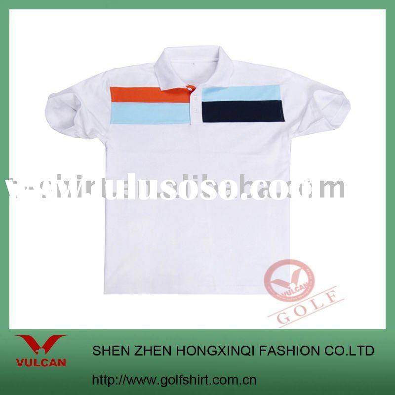 2011 Newest pique cotton polo t shirt with simple design and customized logo