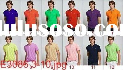 2011 wholesale top quality men's business polo shirt with lacoste cotton