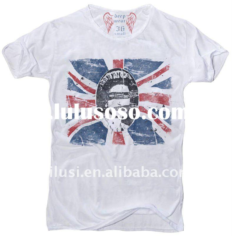 2012 digital print cotton t-shirts for men