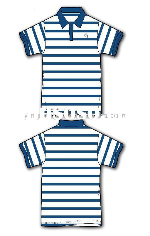 Stripe polo shirt stripe polo shirt manufacturers in for Custom polo shirt manufacturers