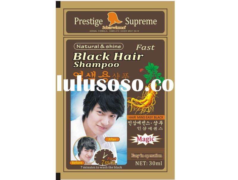 Easy wash black herbal hair dye shampoo