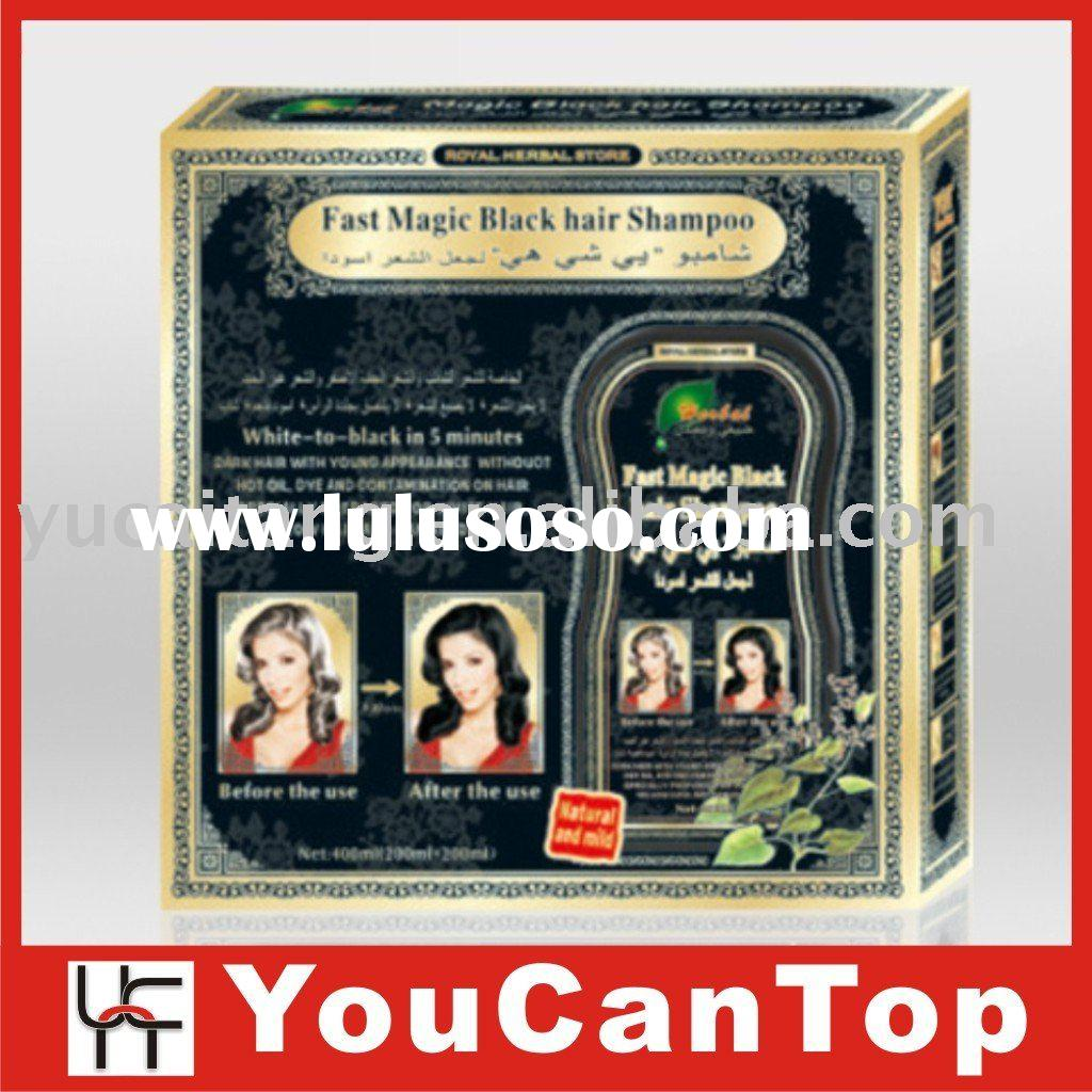 black hair dye shampoo