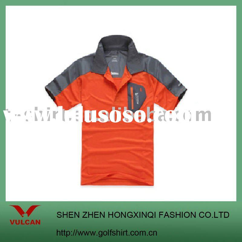 men's polo shirt with a zipper pocket in chest