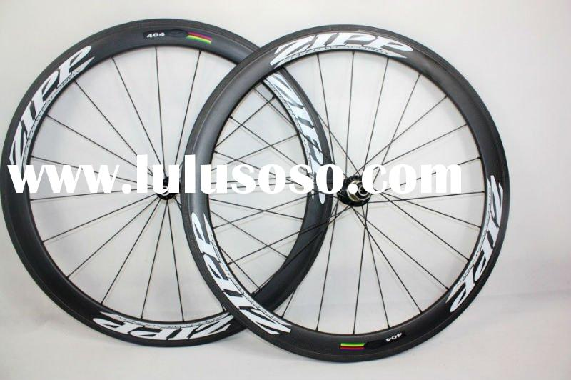 wholesale,Zipp 404 carbon Wheelset C-50 clincher 3K weave wheels 50mm