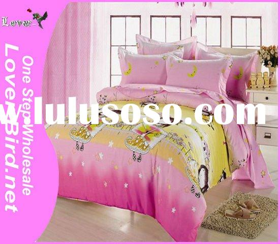 100% Kids Cartoon Bedding Set, bed sheet cover, pillow cover,4pcs sheet, comforter,printed bed sheet