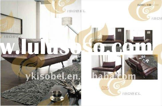 2011 hot sale folding leather bed sofa YK025
